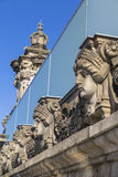 The bas-relief on the cornice of the building of the Bundestag Stock Image