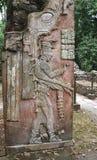 Bas-relief découpant avec d'un roi maya, Palenque, Chiapas, Mexi images libres de droits