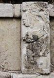 Bas-relief découpant avec d'un roi maya, Palenque, Chiapas, Mexi Photos libres de droits