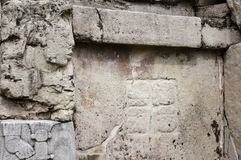 Bas-relief découpant avec d'un roi maya, Palenque, Chiapas, Mexi Photo libre de droits