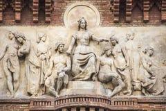 Bas-relief d'Arc de Triomf à Barcelone Photos stock
