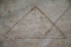 Bas-relief d'un Piramid dans les bains de Diocletian à Rome Image stock