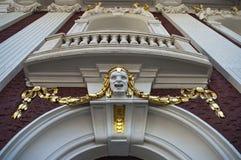 Bas-relief da cabeça masculina. Foto de Stock Royalty Free