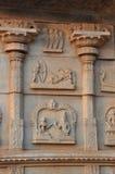 Bas-relief dans l'église indienne Photos stock