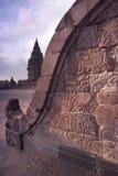 Bas-relief de balustrade de Prambanan, Java, Indonésie Images libres de droits