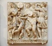 Bas-relief de marbre Photos libres de droits