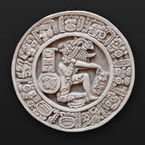 Bas-relief de piedra América latina redonda Imagenes de archivo