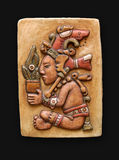 Bas-relief de piedra Jum Kaash Centeotl América latina Imagen de archivo