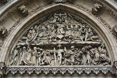 Bas-relief de sculpture en jugement, Prague Images libres de droits