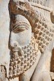 Bas-relief de soldados persas Fotografía de archivo