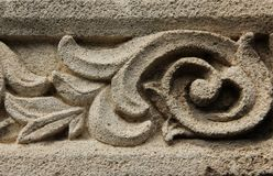 Bas Relief. A Bas Relief decorating the outside of a church in Rhodes, Greece Stock Photography