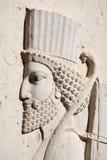 Bas-relief dei soldati persiani fotografie stock