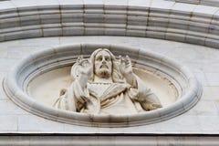 Bas-relief del Jesucristo Fotografía de archivo libre de regalías