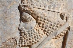 Bas-relief del soldato persiano da Persepolis, IRA immagini stock libere da diritti