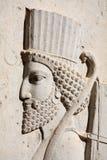 Bas-relief del soldato persiano da Persepolis, IRA fotografie stock libere da diritti