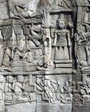 Bas-relief del tempiale di Bayon Immagine Stock