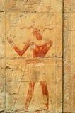Bas-relief della regina Hatshepsut immagine stock
