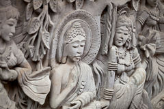 Bas-relief - story of Buddha's life Stock Images