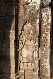 The bas-relief depicting a woman. Angkor Wat Royalty Free Stock Photos