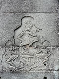 Bas-relief des déesses de danse Photo libre de droits
