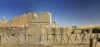 Bas-relief des ruines de persepolis, Chiraz Iran Photographie stock libre de droits