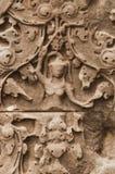 Bas Relief Detail in Angkor Wat, Siem oogst, Kambodja, Indochina, Azië royalty-vrije stock foto's