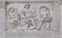 Bas-Relief Detail Ara Pacis Augustae - Rome Royalty Free Stock Photos