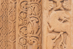 Bas relief. Details of a bas relief, italy Stock Photo