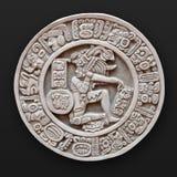 Bas-relief di pietra America Latina rotonda immagini stock