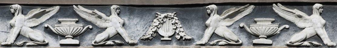 Bas-relief di uno sphinx fotografia stock libera da diritti