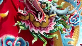 Bas-relief of dragon on Pratumnak Hill in Pattaya, Thailand stock footage