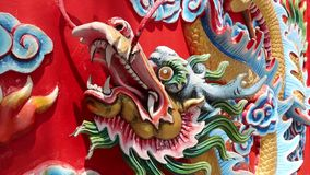 Bas-relief of dragon on Pratumnak Hill in Pattaya, Thailand stock video