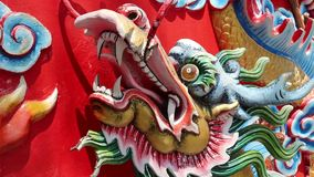 Bas-relief of dragon on Pratumnak Hill in Pattaya, Thailand stock video footage