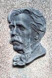 Bas-relief du compositeur et du peintre lithuaniens célèbres M k Ciurlionis sur sa tombe image libre de droits