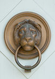 Bas-relief en bronze de lion avec la boucle Photos stock