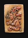 Bas-relief en pierre Jum Kaash Centeotl Amérique latine Image stock