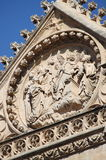 Bas-relief on the facade of Palma de Mallorca cathedral. Spain Stock Image