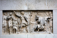 Bas-relief on the facade San Maurizio church in Venice, Italy Royalty Free Stock Photography