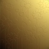 Bas relief floral. Golden bas relief floral background Royalty Free Stock Photo