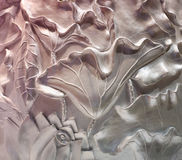Bas-relief of flowers Stock Photos