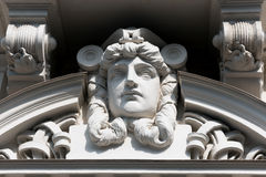 The bas-relief on the front face of the old house Royalty Free Stock Image