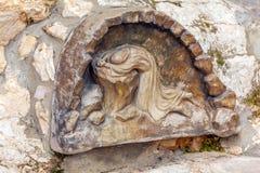 Bas-relief in  Gethsemane Garden at Mount of Olives, Jerusalem, Royalty Free Stock Images