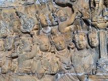 Bas Relief of Hindu Divinities, Prambanan Temple, Indonesia Royalty Free Stock Photo