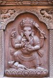 Bas-relief with Hindu God Ganesha at Palace in Patan, Nepal Stock Photos