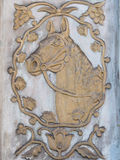 Bas-relief of a horse Royalty Free Stock Image