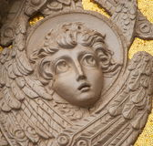 The bas-relief with the image of an angel Stock Photography