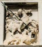 Bas-relief with the image of St. George Royalty Free Stock Image