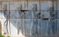 Bas-relief of Immortal soldiers. royalty free stock photo