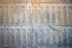 Bas-relief of Immortal soldiers Stock Photo