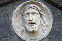Bas-relief of Jesus Face Stock Photo